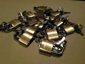 mini locks you can find at the dollar store
