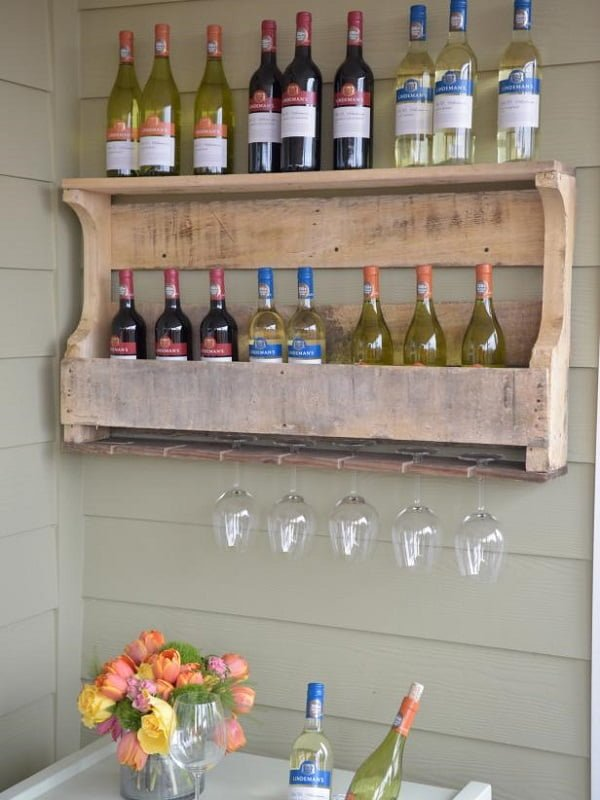Wine Rack from pallet wood