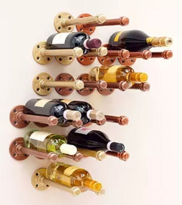 pipe Wine Rack