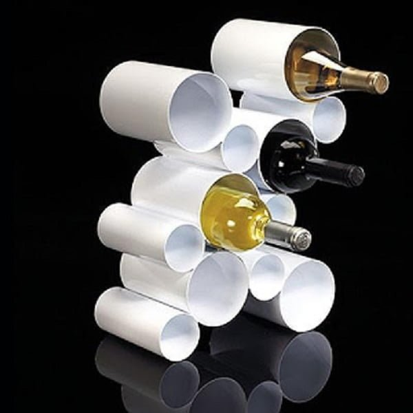 Wine Rack from PVC pipes