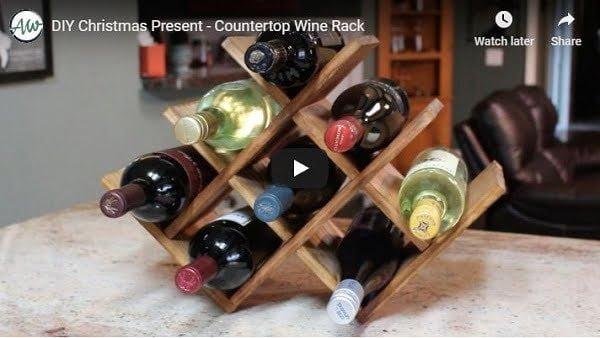 diy wine rack video