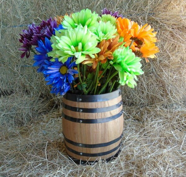 Oak Barrel Centerpiece