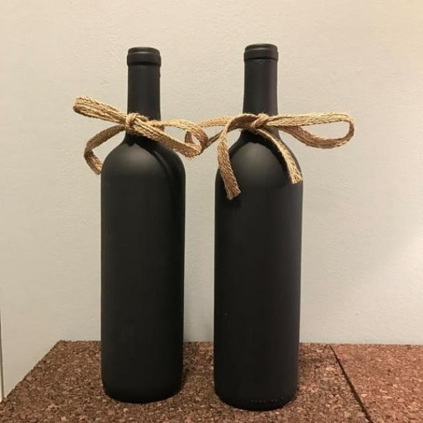 Black Bottle Decor