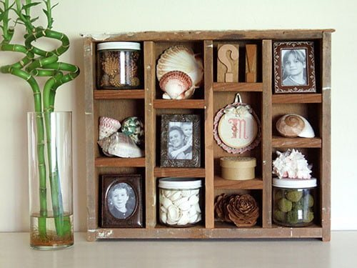 rustic shadow box
