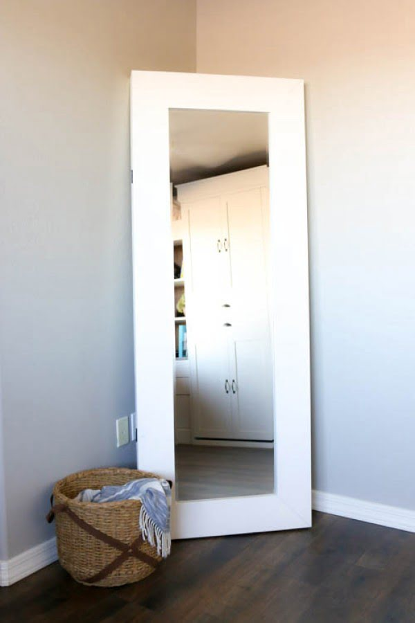 Full Length Mirror with Hidden Storage