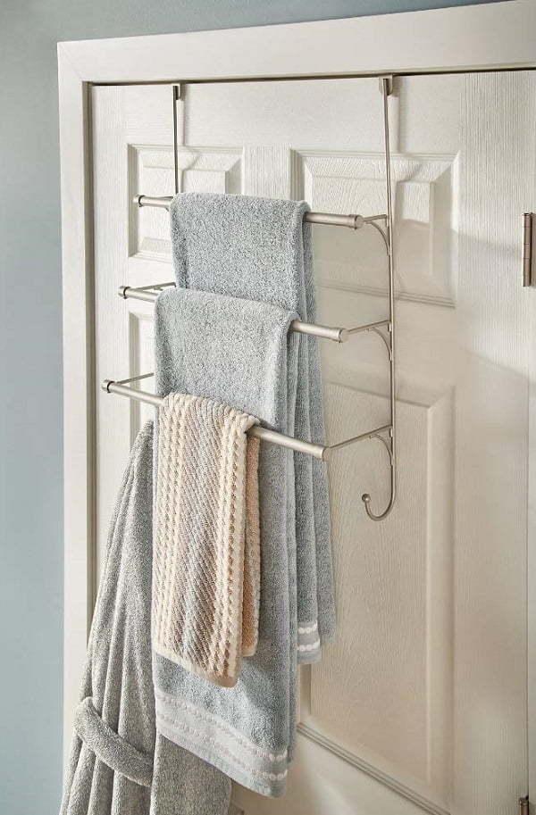 over the door hanging towel rack