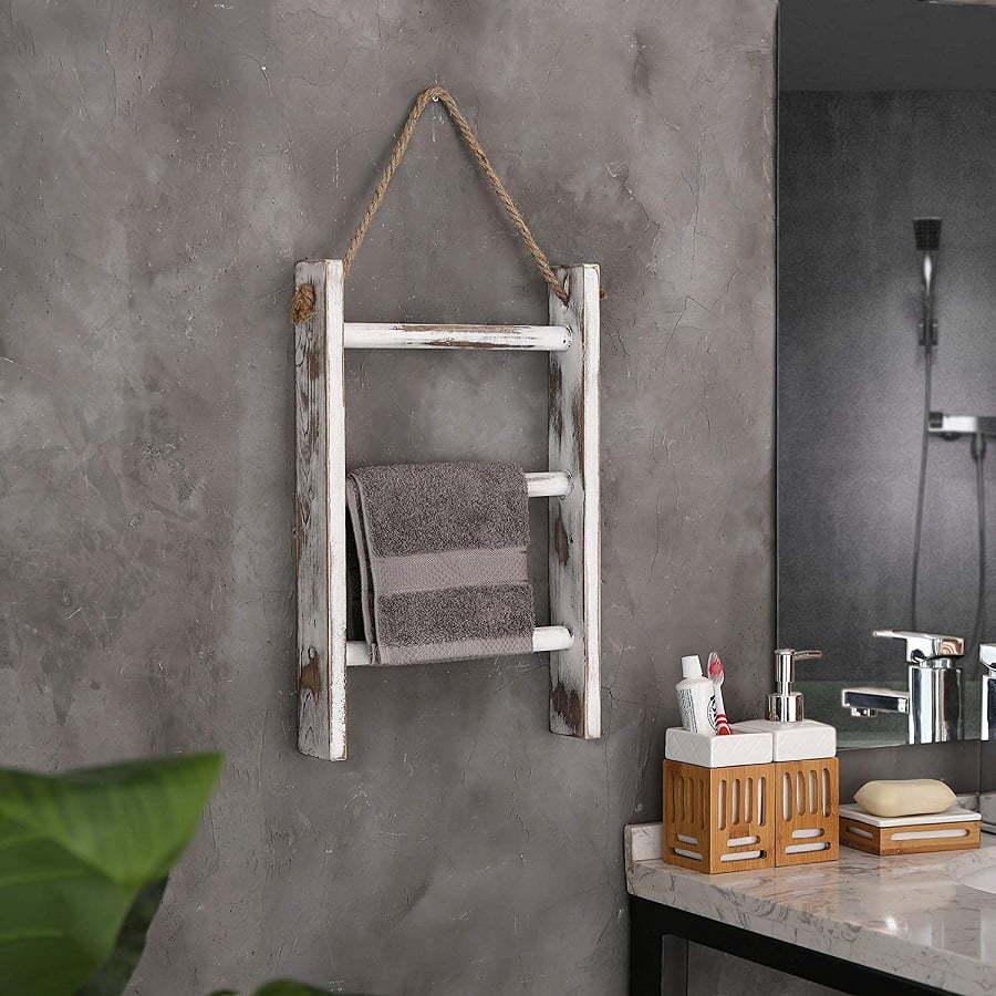 hanging towel ladder