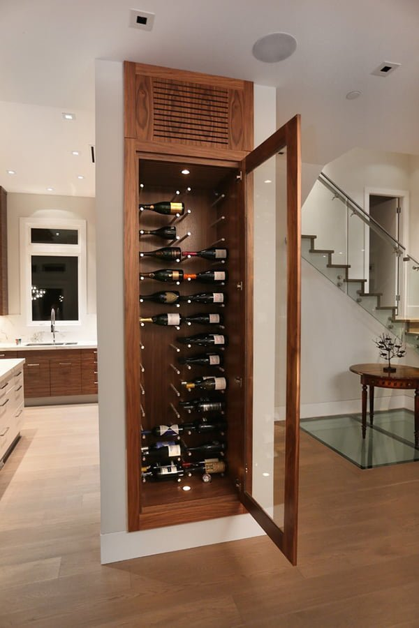Built-in wine cabinet wine cellar ideas