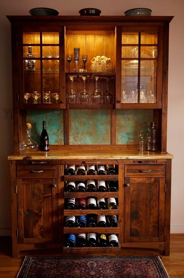 Wine hutch in wine cellars