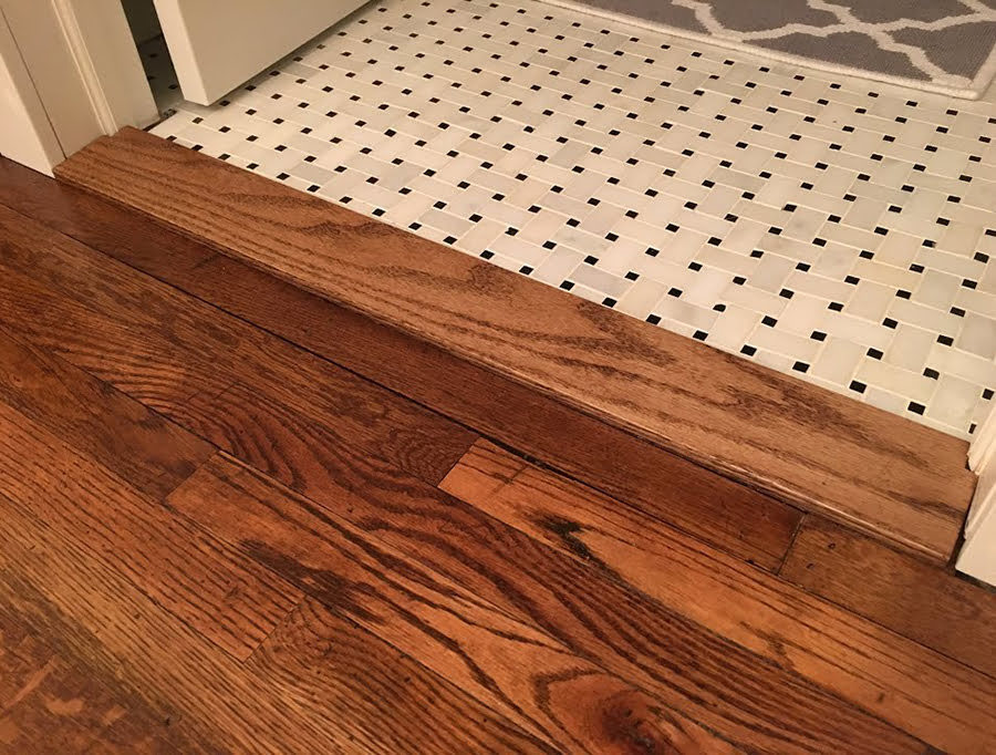 Bathroom door threshold ideas