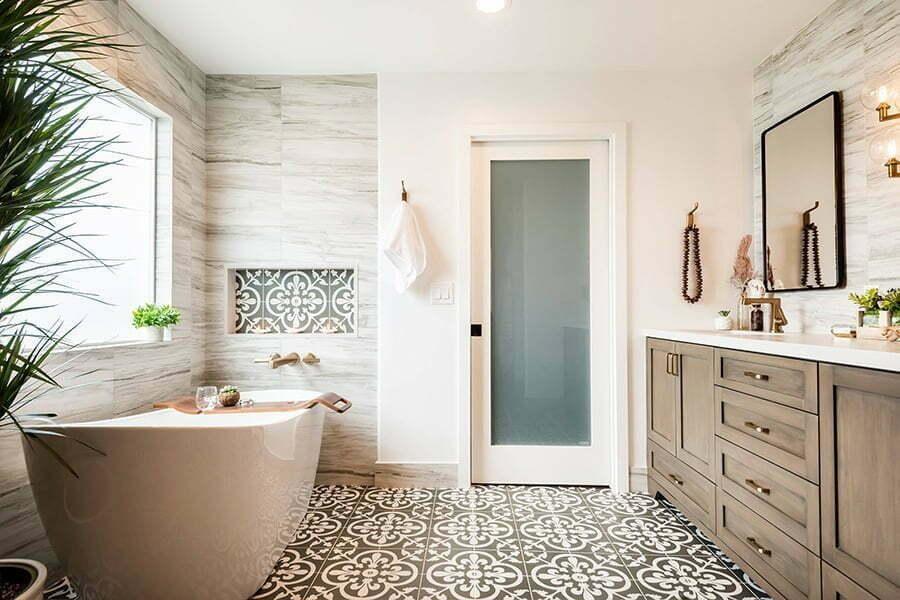 Coastal bathroom vanity