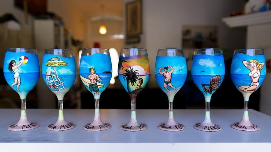 Hand Painted Wine Glass decorating ideas