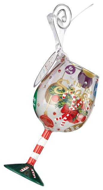 Mini Wine Glass Christmas Ornaments