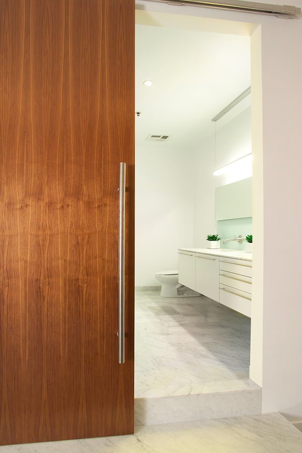 Modern bathroom doors