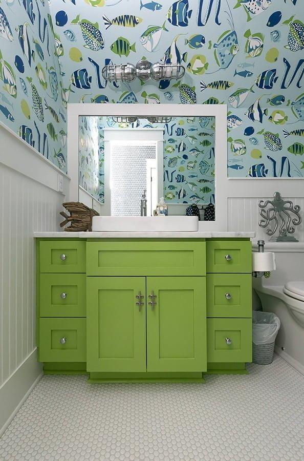 Sea themed bathroom