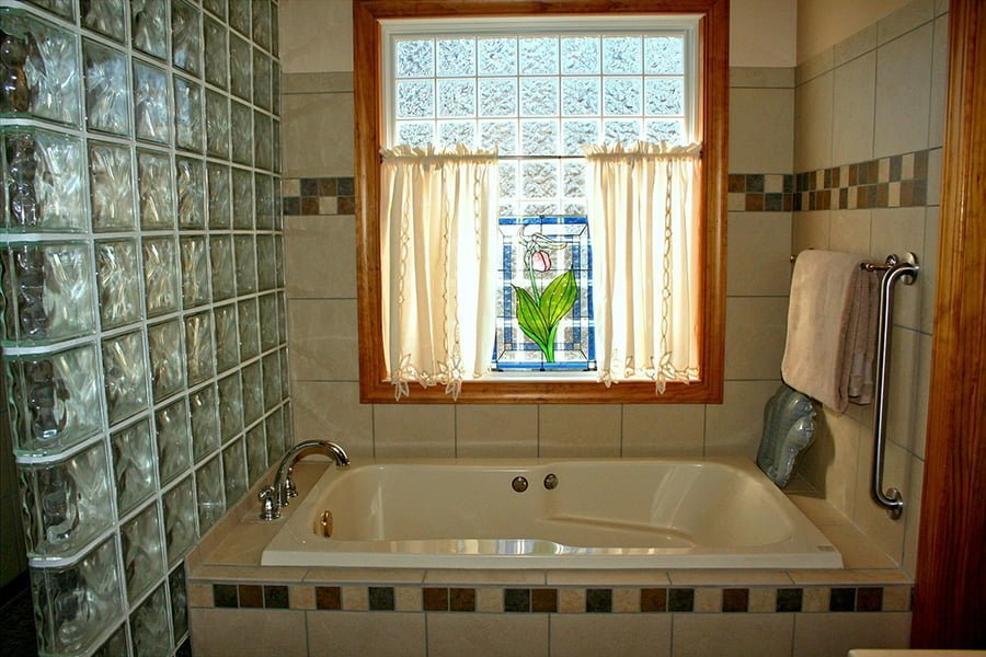 Shower window curtain