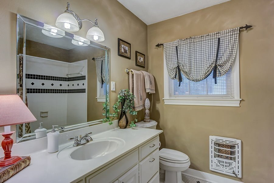 Small window curtains bathroom