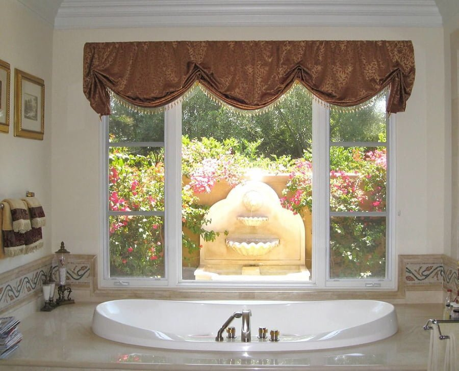 Window valances bathroom