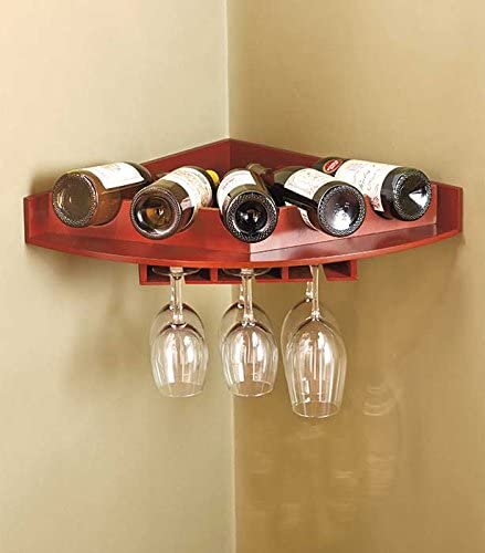 corner shelf wine rack