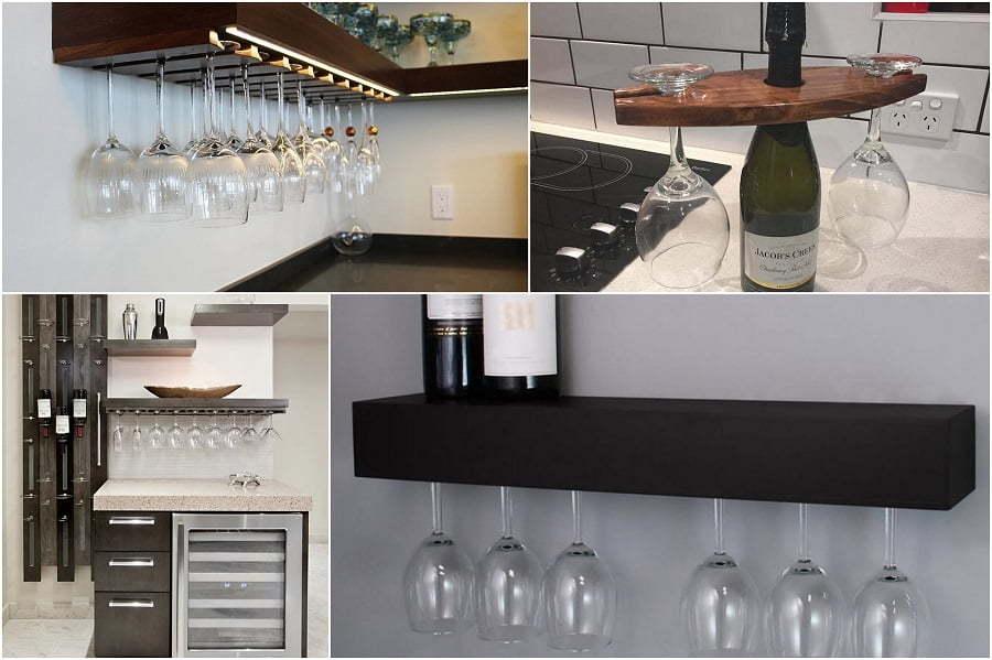 wine glass rack ideas
